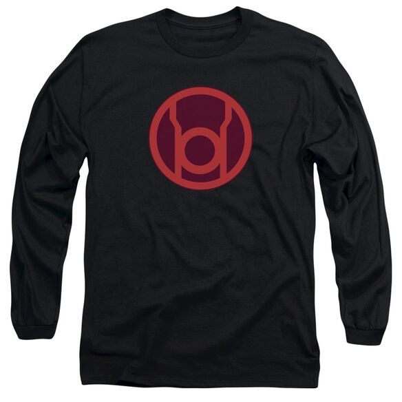 Green Lantern Red Symbol Long Sleeve Adult T-Shirt