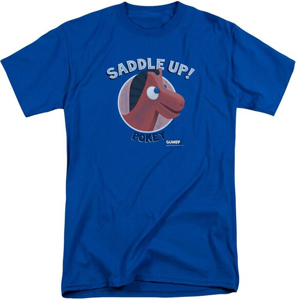 Gumby Saddle Up Short Sleeve Adult Tall T-Shirt