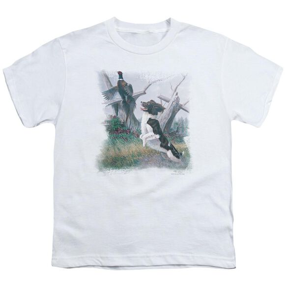 Wildlife Springer With Pheasant Short Sleeve Youth T-Shirt