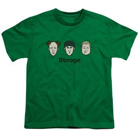 Three Stooges Stooge Short Sleeve Youth Kelly T-Shirt