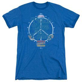 Smarties Peace Lollies Adult Heather Ringer Royal Blue