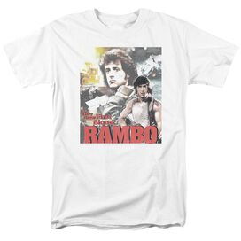 Rambo:First Blood They Drew Collage Short Sleeve Adult White T-Shirt