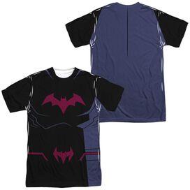 Batman Unlimited Batman Black Uniform (Front Back Print) Short Sleeve Adult Poly Crew T-Shirt