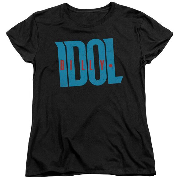 Billy Idol Logo Short Sleeve Womens Tee T-Shirt