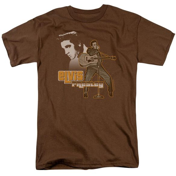 Elvis The Hillbilly Cat Short Sleeve Adult Coffee T-Shirt