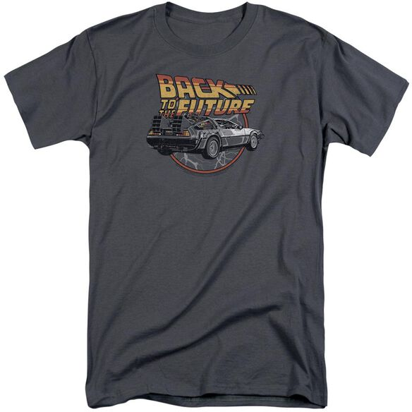 Back To The Future Time Machine Short Sleeve Adult Tall T-Shirt