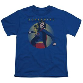 Supergirl Classic Hero Short Sleeve Youth Royal T-Shirt