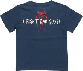 Spiderman Mask I Fight Bad Guys Toddler T-Shirt