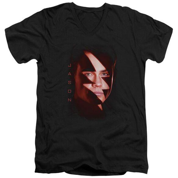 Power Rangers Jason Bolt Short Sleeve Adult V Neck T-Shirt