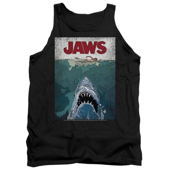 Jaws Lined Poster Adult Tank