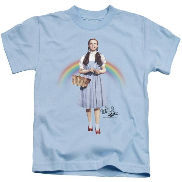Wizard Of Oz Over The Rainbow Short Sleeve Juvenile Light T-Shirt