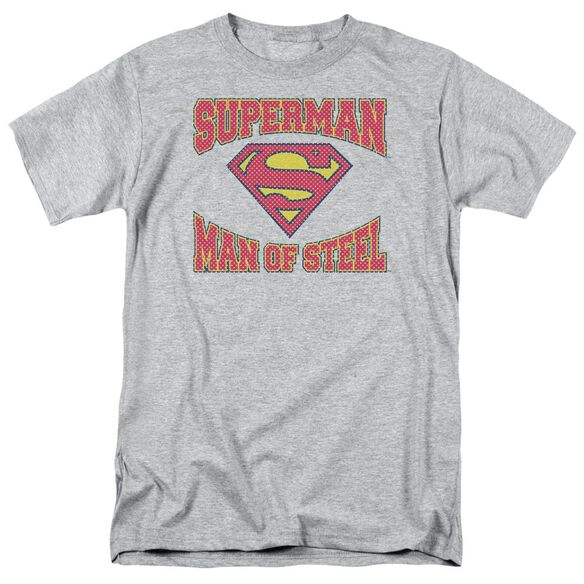 Superman Man Of Steel Jersey Short Sleeve Adult Athletic Heather T-Shirt