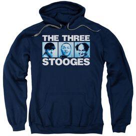Three Stooges Three Squares Adult Pull Over Hoodie