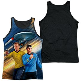 Star Trek Phasers Down Adult Poly Tank Top Black Back