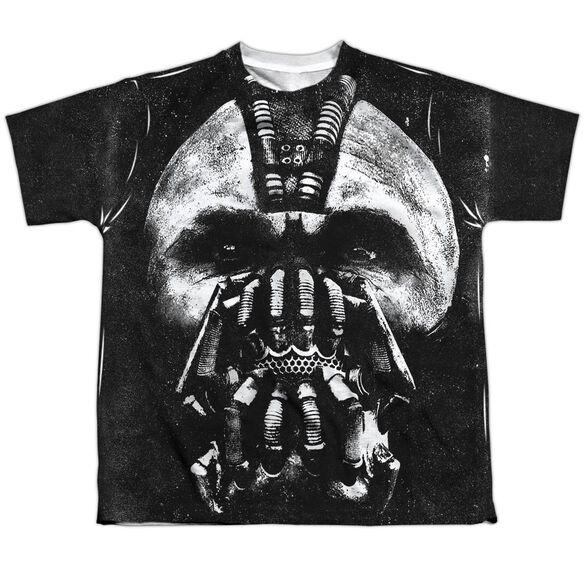 Dark Knight Rises Big Bane Head Short Sleeve Youth Poly Crew T-Shirt