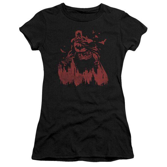Batman Red Knight Short Sleeve Junior Sheer T-Shirt