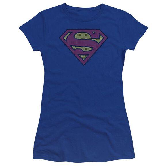Superman Little Logos Premium Bella Junior Sheer Jersey Royal