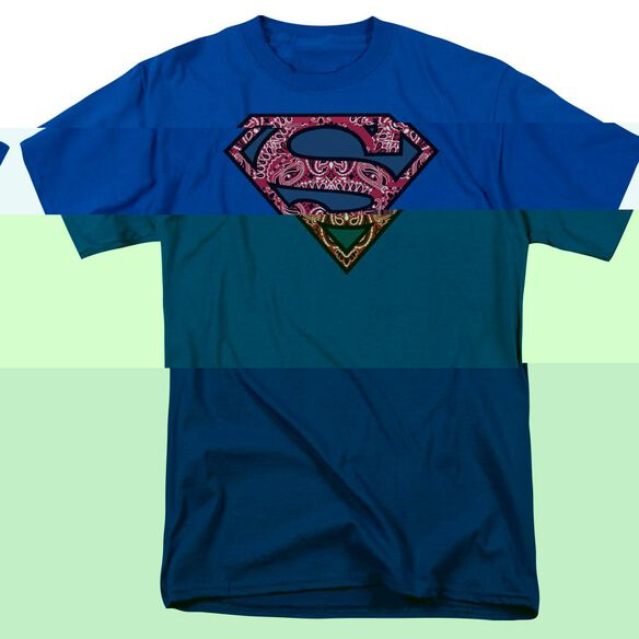 SUPERMAN PAISLEY SHIELD - S/S ADULT 18/1 - T-Shirt