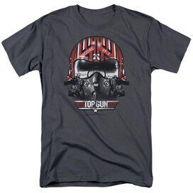 TOP GUN GOOSE HELMET - S/S ADULT 18/1 - CHARCOAL T-Shirt