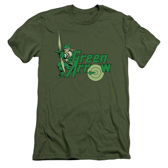 Dc Arrow Short Sleeve Adult Military T-Shirt