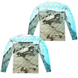 Hummer Trek (Front Back Print) Long Sleeve Adult Poly Crew T-Shirt