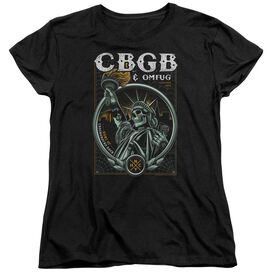 Cbgb Liberty Skull Short Sleeve Womens Tee T-Shirt