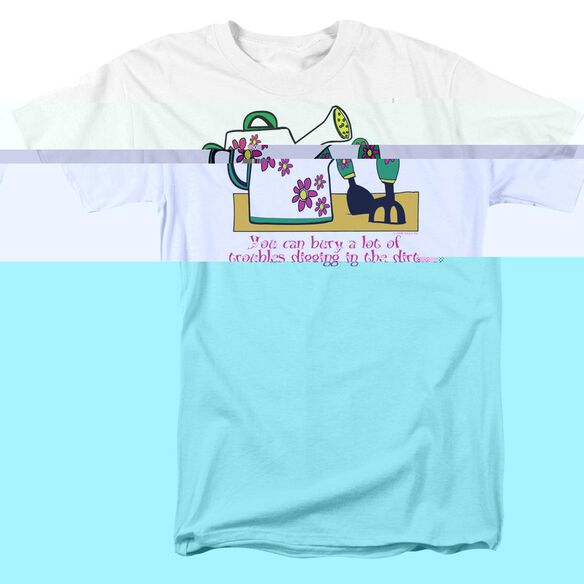 GARDEN BURYING TROUBLES - S/S ADULT 18/1 - WHITE T-Shirt