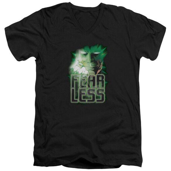 Green Lantern Fearless Short Sleeve Adult V Neck T-Shirt