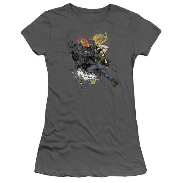 Dark Knight Rises Fight For Gotham Short Sleeve Junior Sheer T-Shirt