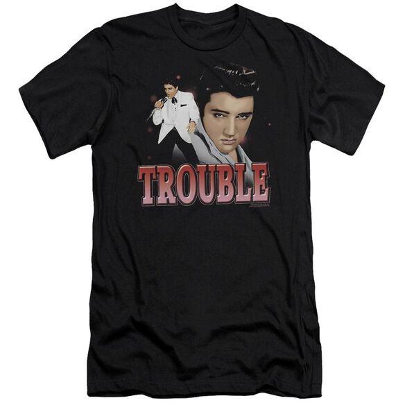 Elvis Trouble Premuim Canvas Adult Slim Fit