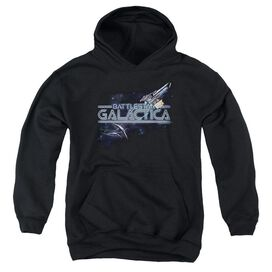 Bsg Cylon Persuit-youth Pull-over Hoodie