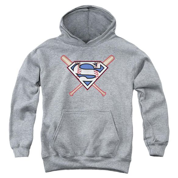 Superman Crossed Bats Youth Pull Over Hoodie