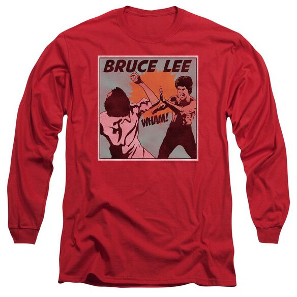 Bruce Lee Comic Panel Long Sleeve Adult T-Shirt