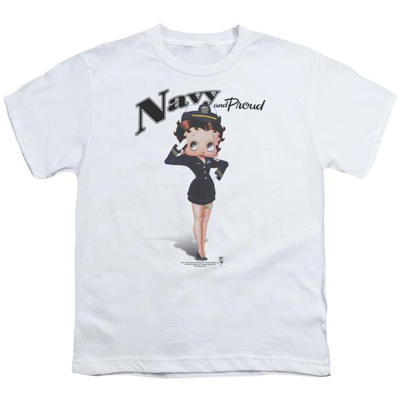 Betty Boop Navy Boop Short Sleeve Youth T-Shirt