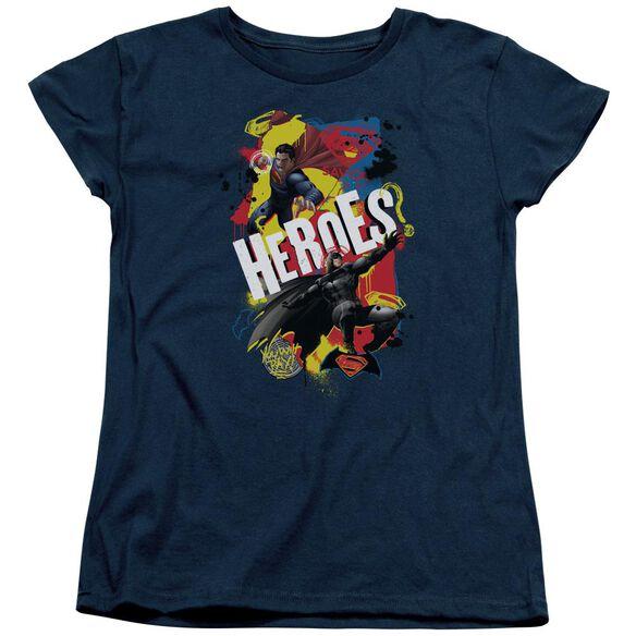 Batman V Superman Double Hero Short Sleeve Womens Tee T-Shirt