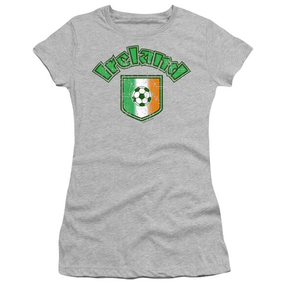 IRELAND WITH SOCCER FLAG- JUNIOR T-Shirt