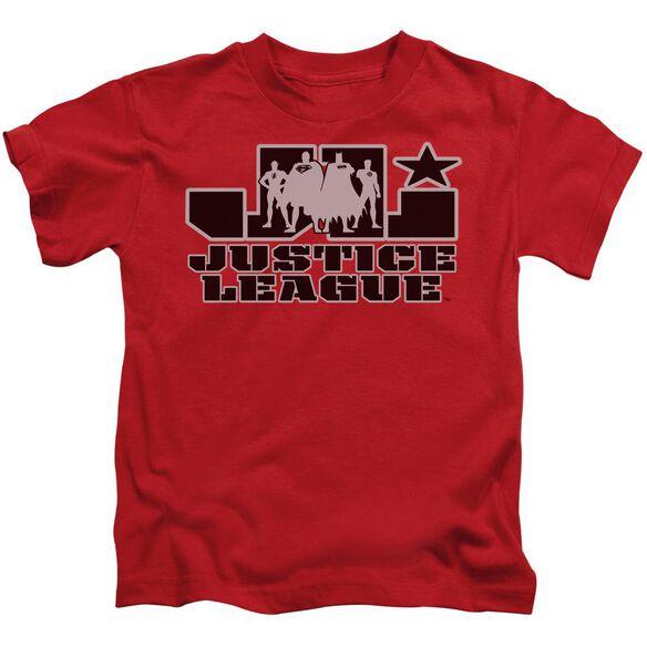 Jla Jla Logo Short Sleeve Juvenile Red T-Shirt