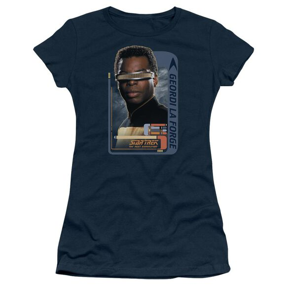 Star Trek Geordi Laforge Short Sleeve Junior Sheer T-Shirt