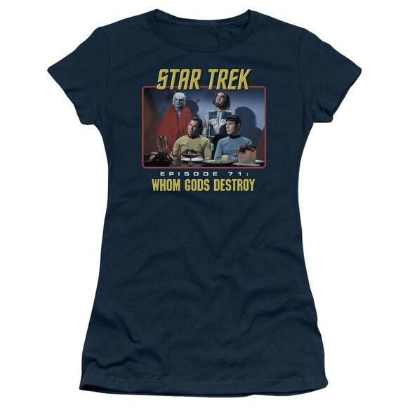 Star Trek Episode 71 Short Sleeve Junior Sheer T-Shirt
