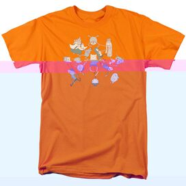 ADVENTURE TIME GLOB BALL-S/S ADULT 18/1 - ORANGE T-Shirt