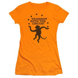 Trained With The Circus Short Sleeve Junior Sheer T-Shirt