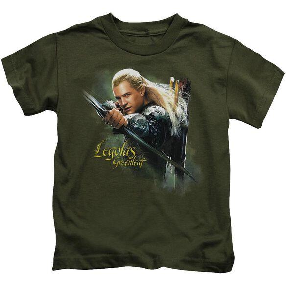 Hobbit Legolas Greenleaf Short Sleeve Juvenile Military Green T-Shirt
