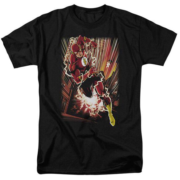 Jla Street Speed Short Sleeve Adult T-Shirt