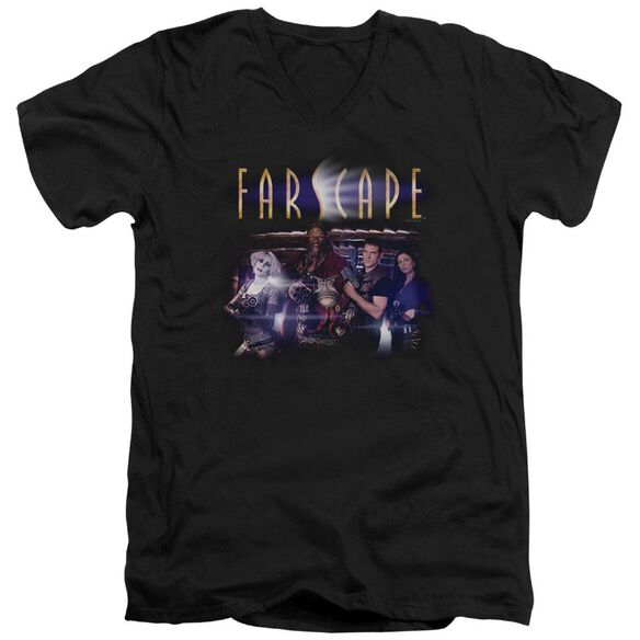 FARSCAPE FLARESCAPE - S/S ADULT V-NECK 30/1 - BLACK T-Shirt