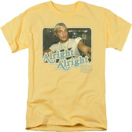 DAZED AND CONFUSED ALRIGHT ALRIGHT - S/S ADULT 18/1 - BANANA T-Shirt