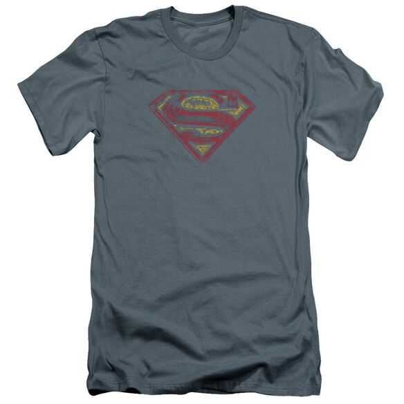 Superman S Shield Rough Premuim Canvas Adult Slim Fit