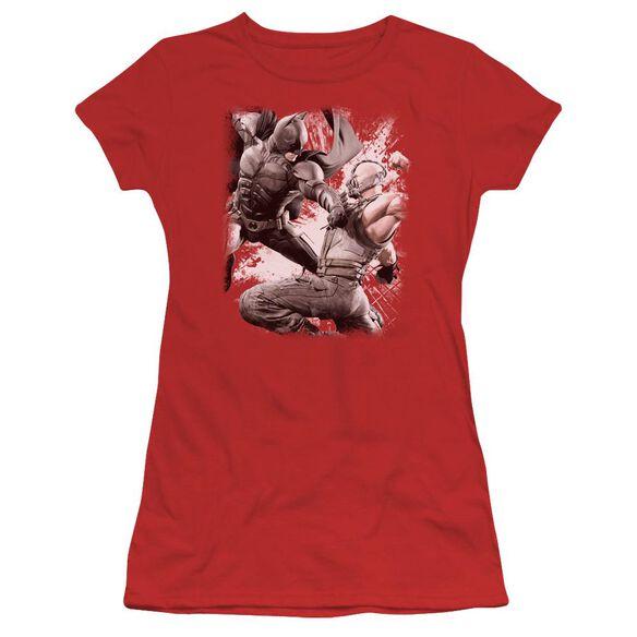 Dark Knight Rises Final Fight Short Sleeve Junior Sheer T-Shirt