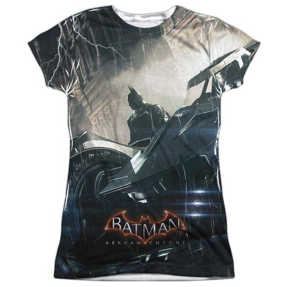 Batman Arkham Knight Into The Night Short Sleeve Junior Poly Crew T-Shirt