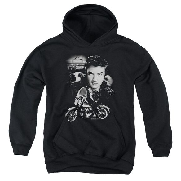 Elvis Presley The King Rides Again Youth Pull Over Hoodie