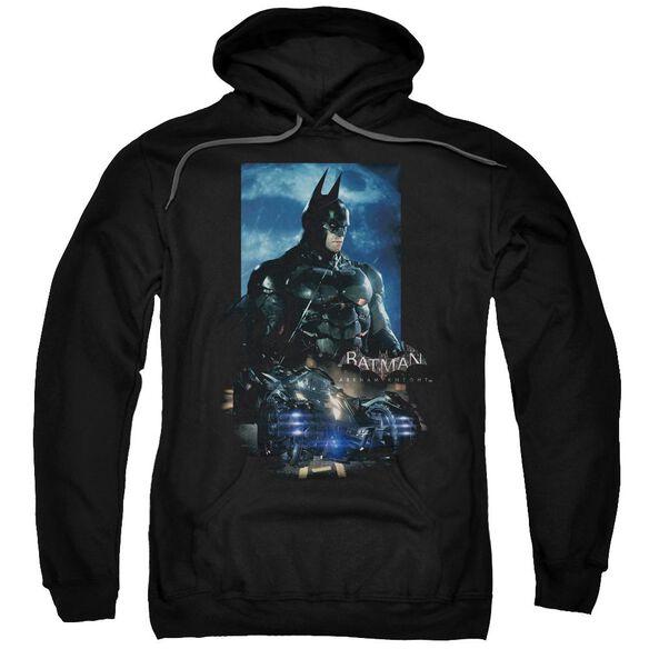 Batman Arkham Knight Batmobile Adult Pull Over Hoodie Black
